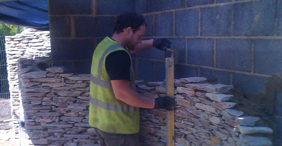 Bishops Stone Wall Work in Progress