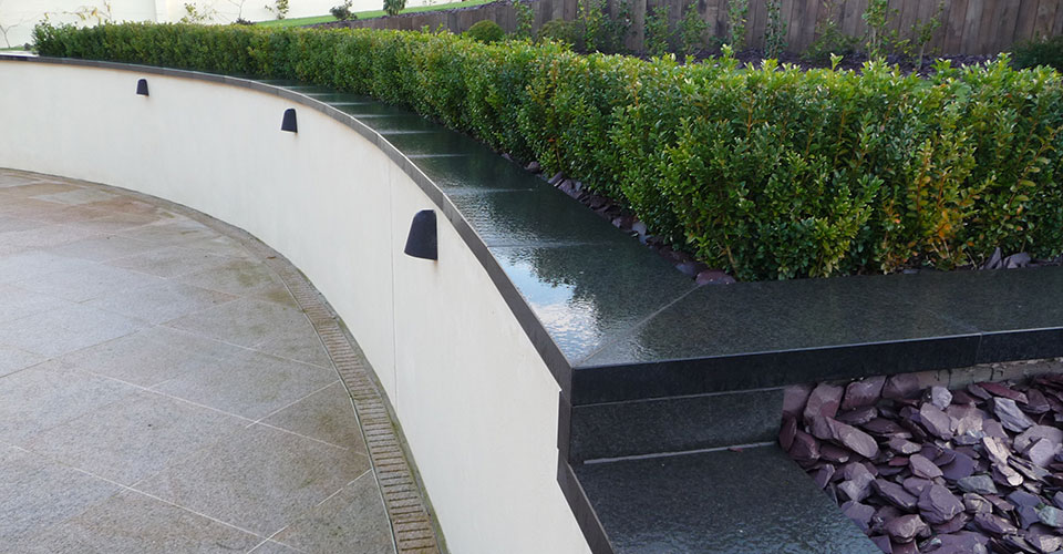Sten Farm Patio Wall and Hedging